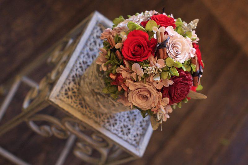 プリザーブドフラワーで残るお花を 福岡市 花屋 ボヌール;