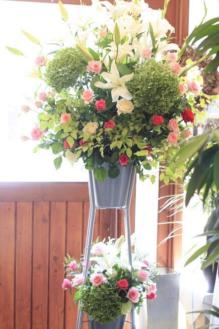 開店祝い 開院祝いフラワースタンド 福岡市 花屋 ボヌール