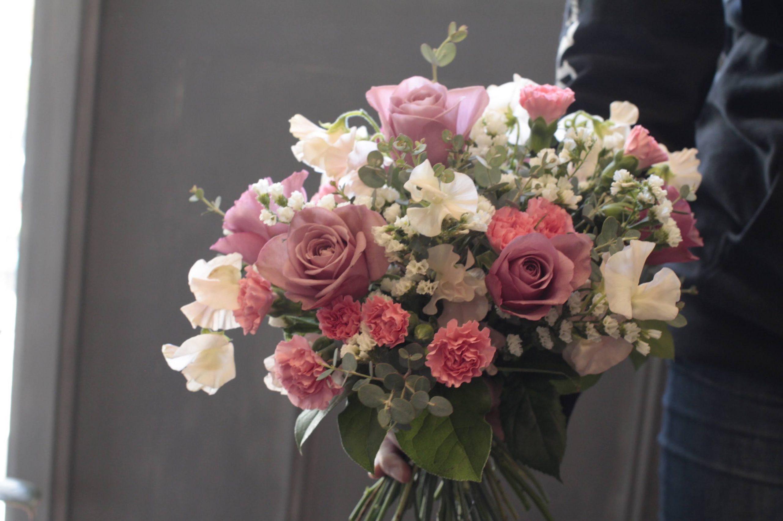 春の花束レッスンのお知らせ 福岡 フラワーアレンジ教室 花屋;